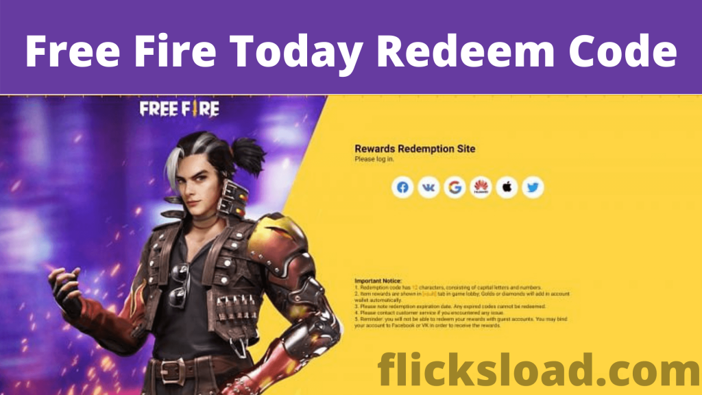 Free Fire redeem code for the Indian server